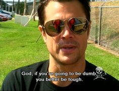 Oh Johnny - swoon. Bam Margera, Steve O, Im A Loser, Film Stills, Man Humor, Celebrity Pictures, Movie Quotes, Gorgeous Men, Mtv