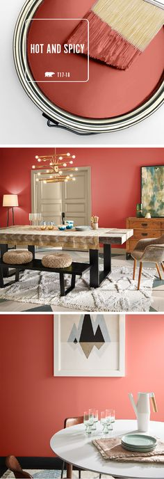 Check out BEHR's collection of 2017 Color Currents. This modern color palette features everything from classic neutrals to bold, bright colors like Hot and Spicy. This vibrant shade of red is a great way to bring color into your home when paired with subtle tans and soft creams. Check out the rest of the collection to find the perfect paint colors for your home.