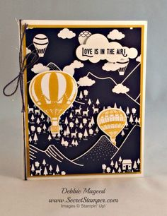 By Debbie Mageed, Lift Me Up, Up & Away Thinlits, Occasions, Stampin Up