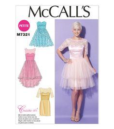 e876d855ebd5b McCall Pattern M7321-A50 Misses  Miss Petite Sweetheart-Neckline Dresses-6