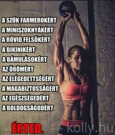 Motiváció Sport Motivation, Fitness Motivation, Wellness Fitness, Health Fitness, Healthy Facts, Bodybuilding Workouts, Running Workouts, Fit Chicks, Perfect Body
