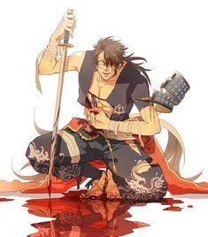 Anime Love, Anime Guys, Samurai, Mutsunokami Yoshiyuki, Boy Art, Conceptual Art, Touken Ranbu, Fantasy Characters, Akira