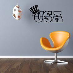 USA America Wall Decal - Vinyl Decal - Car Decal - CF014