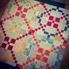 quilt-stuff:  APQ quilt along - Tone it Down by gubbyfish on Flickr.