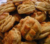 Limara péksége: Luca pogácsa - hajtogatott tepertős Bakery, Lime, Meat, Chicken, Cooking, Food, Kitchen, Limes, Essen