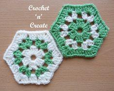 Crochet Granny Hexagon Free Crochet Pattern - Crochet 'n' Create