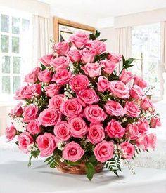 arreglos florales de rosas rosas - Buscar con Google