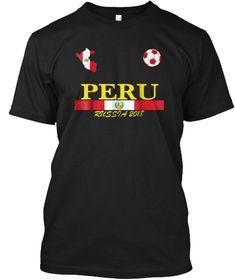 c1348d7f8 Peru Soccer Jersey 2018 World T Shirt Black T-Shirt Front Peru Soccer
