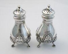 Special Order 1896 Gorham Sterling Salt Pepper Shakers image 2