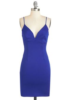 Strappier Than Ever Dress in Sapphire. Prepping for a long-awaited evening is as exhilarating as the outing itself when it involves this sleek royal-blue dress! #gold #prom #modcloth