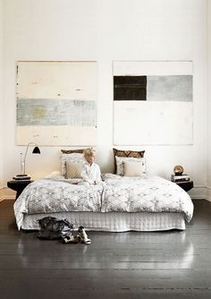 A stunning house filled with souvenirs from around the world   NordicDesign. Bedroom. Art. Decor. Design. Home.