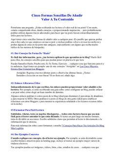 5 Formas Sencillas de Añadir Valor a Tu Contenido by Fernando Amaro via Slideshare