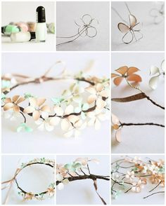 How to make beautiful flower wreath step by step DIY tutorial instructions, How to, how to make, step by step, picture tutorials, diy instructions, craft, do it yourself