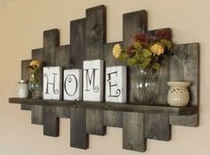 Rustic offset shelf; offset shelves, wooden shelves, shabby chic decor, rustic home decor, rustic country decor, farmhouse décor by BurgByDesign on Etsy https://www.etsy.com/listing/503694582/rustic-offset-shelf-offset-shelves