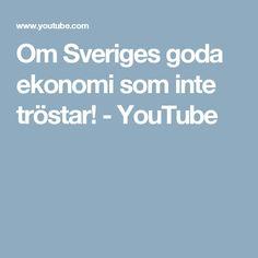Om Sveriges goda ekonomi som inte tröstar! - YouTube