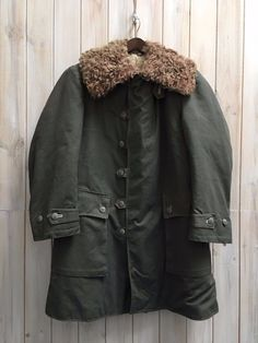 #Vintage 1944 wwii #m1909 swedish army field coat #sheepskin canvas parka m / l, View more on the LINK: http://www.zeppy.io/product/gb/2/252615365742/