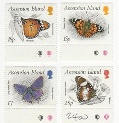Butterflies stamps : Ascension Islands BUTTERFLIES stamps