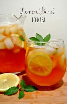 Basil Iced Tea Beat the heat with this oh-so-delicious Lemon Basil Iced Tea that smells as good as it tastes.Beat the heat with this oh-so-delicious Lemon Basil Iced Tea that smells as good as it tastes. Body Cleanse Drink, Smoothie Cleanse, Smoothie Drinks, Smoothies, Cleanse Diet, Best Iced Tea Recipe, Iced Tea Recipes, Drink Recipes, Yummy Recipes