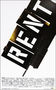 Rent Off-Broadway Poster (2011 Revival)