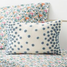 Our Pom Pom Pillow is a playful way to liven up any little one's bedroom. Adorned with colorful boucle poms all over, this vibrant throw pillow features a soft cotton fabric made for snuggling and cuddling. It's a perfectly cozy accent full of so much fun texture and cheerful color.    Throw pillow with decorative pom poms   Boucle poms on pillow adds a dimensional element   Cotton shell and lining with polyester polyfill   Made in India One Bedroom, Kids Bedroom, Bedroom 2018, Bedrooms, Bedroom Ideas, Kids Pillows, Throw Pillows, Childrens Beds, Beds For Sale