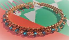 STACK PACK!!! This is a cuff and beaded chain bracelet stack pack, for those girls who love to stack bracelets! The beautiful blue beads are a fun way to boost the mood for summer, and that copper will accent beautifully bronzed skin.