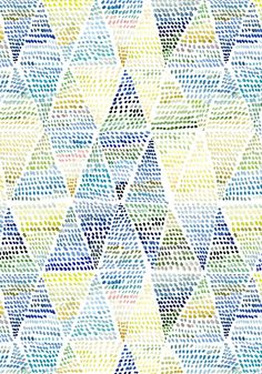 Triangle Dot pattern design // Yao Cheng Design
