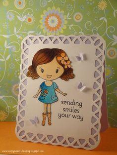 Dana's 90 Minute Scramble re-worked card by luv2scrapnat (Natalie), via Flickr Hero Arts
