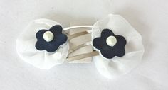 navy and blue hair clips