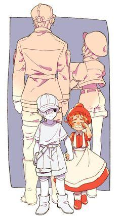Hatarakusaibou (Cells at work) Manga Anime, Anime Art, Blood Anime, Desenhos Love, White Blood Cells, Another Anime, Work Memes, Animes Wallpapers, Cute Anime Couples