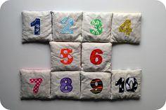 number bean bags.