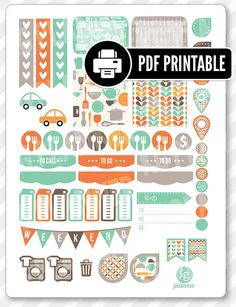 """One 8.5"""" x 11"""" PDF PRINTABLE retro kitchen weekly spread kit stickers for use in your Erin Condren life planner, Filofax, Plum Paper, etc!  ‣ PRINTABLE/DOWNLOADABLE FILE ONLY. Nothing will be shipped. ‣ FOR PERSONAL USE ONLY. COMMERCIAL USE OF ANY KIND IS PROHIBITED.  •••••••• F O L L O W •••••••• f: www.facebook.com/kgplanner i: www.instagram.com/kgplanner t: www.twitter.com/kimgrish  •••••••• A R T W O R K •••••••• Artwork under free commercial use with attribution: © Freepik.com, ©…"""