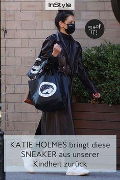 Sneaker mit Klett erinnern uns stark an unsere Kindheit. Katie Holmes bringt jetzt genau die zurück und macht sie zum angesagten Schuh Trend! #instyle #instylegermany #katieholmes #sneaker #schuhe #schuhtrend #klettverschluss