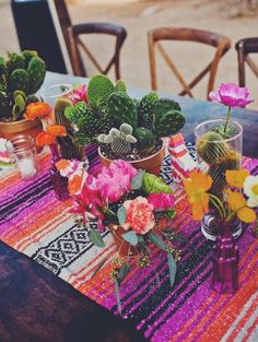 Looking for a unique baby shower idea? How about a mexican theme, like this Baja Baby Fiesta! Cactus Centerpiece, Centerpieces, Table Decorations, Mexican Birthday, Mexican Party, Mexican Themed Weddings, Mexican Rug, Cactus Wedding, Unique Baby Shower