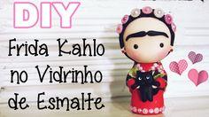 (DIY) Reciclando Vidrinho de Esmalte #2 Frida Kahlo (Volta as Aulas - Ba...