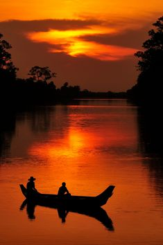 Sunset near the south gate at Angkor Wat, Cambodia
