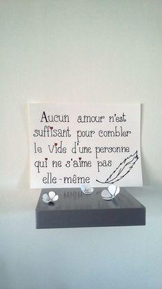 """affiche citation """" aucun amour n'est suffisant ... """" : Affiches, illustrations…"""