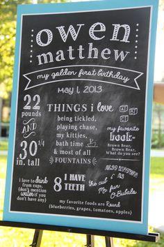 Custom Chalkboard Birthday Signs by DoodleEtte on Etsy
