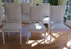 Six French Style Dining Chairs  Totally by WydevenDesigns on Etsy
