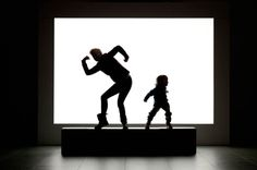 Monsters: Photographs of People Making Silhouettes in a Museum