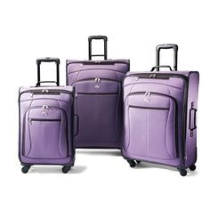 979056e970 American Tourister Luggage AT Pop Three-Piece Spinner Set (Purple) American  Tourister http