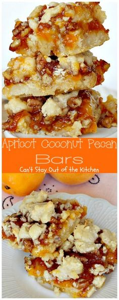 Apricot Coconut Pecan Bars | Can't Stay Out of the Kitchen | exquisite and heavenly #dessert with a #coconut shorbread crust,…