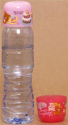 pink Rilakkuma sweets bottle cap cups kawaii