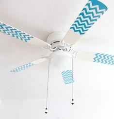 :: para pequenos ::chevron painted fan