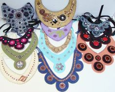 Felt Necklace Patterns-Instant Download Make UR own by woolhearts