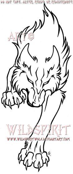 Fierce Running Wolf Tattoo by WildSpiritWolf on DeviantArt