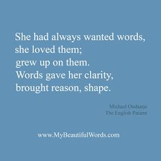 Words | The English Patient