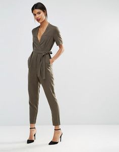 French Connection | French Connection Wrap Jumpsuit at ASOS