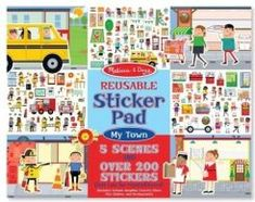 Melissa & Doug Reusable Sticker Pad: My Town Kids' Stickers - «Truly reusable stickers from Melissa and Doug! They will last way longer than usual stickers. Airplane Activities, Travel Activities, Learning Activities, Flying With A Baby, Busy Boxes, Thing 1, Travel Toys, Road Trip With Kids, Melissa & Doug