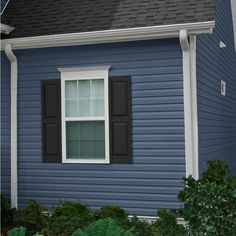 Georgia-Pacific Compass Vinyl Siding Panel Double Dutch Lap Bayou Blue x at Lowe's. Explore your style with an array of colors with our premium Compass Vinyl Siding. Chose from lighter, comfy neutrals, to dynamic, dark hues and worry-free Vinyl Siding Colors, Siding Colors For Houses, Exterior House Colors, Blue Siding, Exterior Siding, Exterior Paint, Exterior Design, Dutch Lap Siding, Georgia Pacific