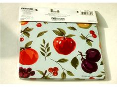 Apples Grapes Fruit Themed Hot Pads Trivets $14.95